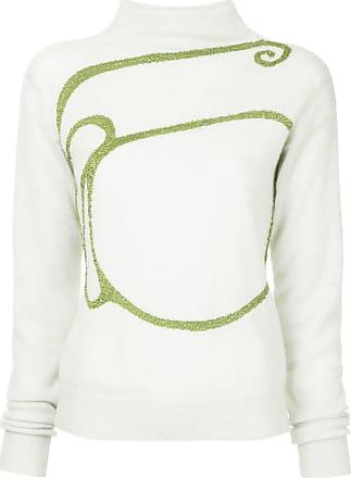 Onefifteen Suéter de tricô com bordado - Branco