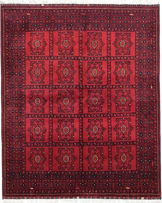 Nain Trading 191x157 Tappeto Orientale Afghan Kunduz Ruggine/Viola (Afghanistan, Lana, Annodato a mano)