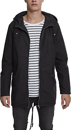 Urban Classics Mens Summer Jacket Light Cotton Parka - Color black, Size S