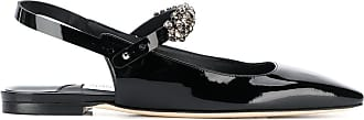 Jimmy Choo London Mahdis patent ballerinas - Black