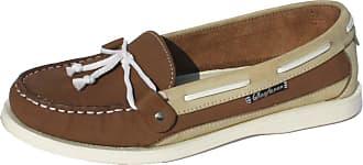 Footwear Studio Ladies Seafarer Yachtsman Nubuck Leather Boat Deck Shoes Sizes 4 - 8 (7 UK, Stone/Ice)