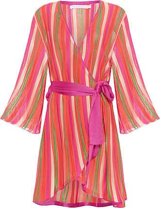 MARIA PAVAN Kimono Listrado - Laranja