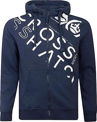 Crosshatch 2k19Sep New Zip Up Hoodie Hooded Full Zip Thru Jacket Jumper Sweatshirt [Navy - Tides, S]