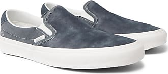 Vans Og Classic Lx Brushed-nubuck And Canvas Slip-on Sneakers - Gray