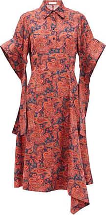 J.W.Anderson Paisley-print Satin-twill Dress - Womens - Red Print