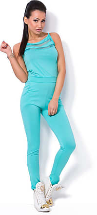 FUTURO FASHION Womens Sleeveless Jumpsuit with Pockets Party Playsuit Catsuit Sizes 8-14 1079 Aqua
