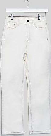 Object straight leg jeans in white-Cream