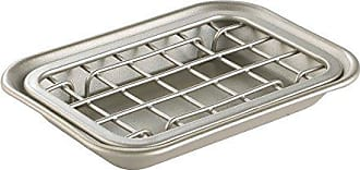 InterDesign Gia Kitchen Counter/Sink Soap Dish - Self Draining Soap Saver Design - Steel/Satin