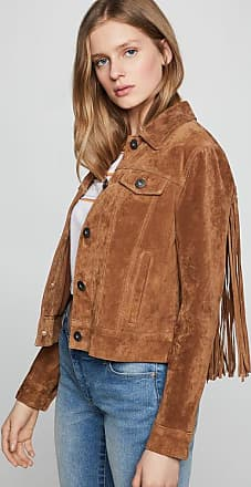 BCBGeneration Braided Fringe Suede Jacket