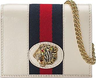Gucci Porta-cartões Rajah com corrente - Branco