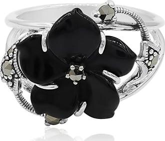Juwelo Onyx Ring Silber Onyx Schmuck Onyx Schwarz