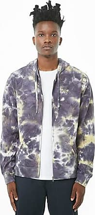 21 Men Graphic Tie-Dye Zip-Up Hoodie at Forever 21 Navy