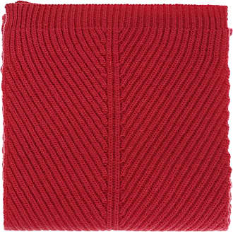 Moncler Ribbed Scarf Womens Red