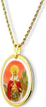 Design Medalhas Pingente Medalha Santa Isabel Ouro