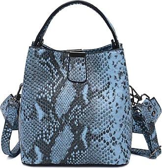 YYW Handbags for Women Small Tote Handbags Snakeskin Shoulder Bag New Look Cross Body Bag (Blue)