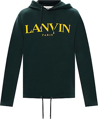 Lanvin Logo Hoodie Mens Green
