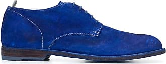 Officine Creative Graphis contrast-stitching derby shoes - Blue