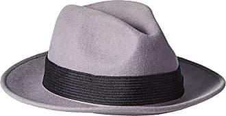 Brixton Mens Nelson Fedora, Light Grey, Large