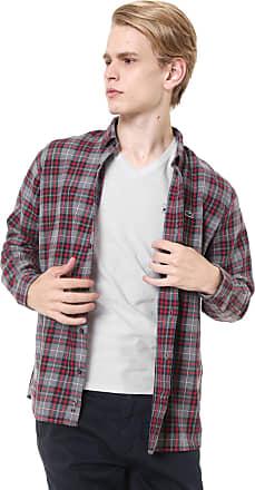 Lacoste Camisa Lacoste Reta Xadrez Cinza/Vermelha