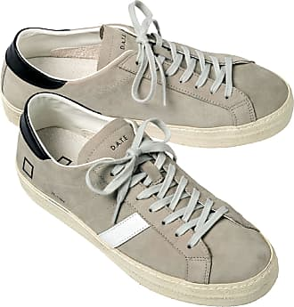 D.A.T.E. Herren Sneakers Grau einfarbig