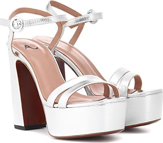 AlexaChung Leather plateau sandals