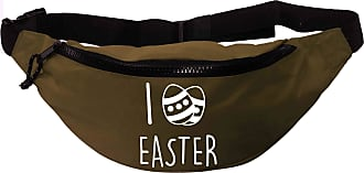 Flox Creative Recycled Polyester Khaki Green Bumbag I Love Easter