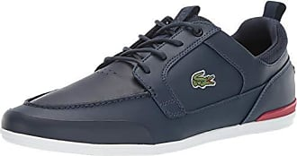 Lacoste Mens Marina Sneaker Navy/red 10 Medium US