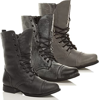 Ajvani WOMENS MILITARY WORK ARMY LADIES COMBAT BOOTS SIZE 6 39