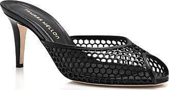 Tamara Mellon Unbound Black Capretto Sandals, Size - 36.5