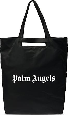 Palm Angels Branded Shopper Bag Mens Black