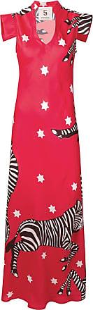 5 Progress zebra print dress - Vermelho