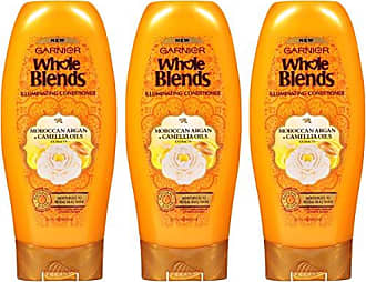 Garnier Hair Care Whole Blends Illuminating Conditioner with Moroccan Argan & Camellia Oils Extracts, 3 Count
