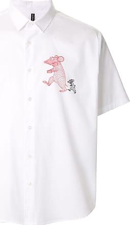 Blackbarrett Camisa com estampa de rato - Branco