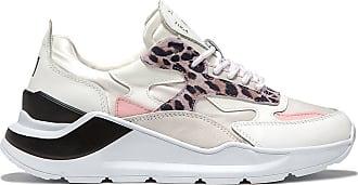 D.A.T.E. Turnschuhe Fuga Satin Leopard Weiß Pink - 36