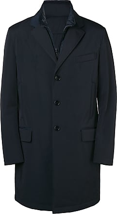 Fay layered zip coat - Blue
