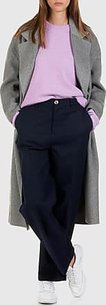 08ef3d67e59 American Vintage Manteau long oversize col tailleur à double-boutonnage en  laine