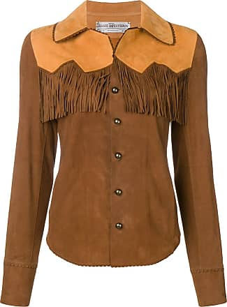 Jessie Western leather western shirt - Marrom