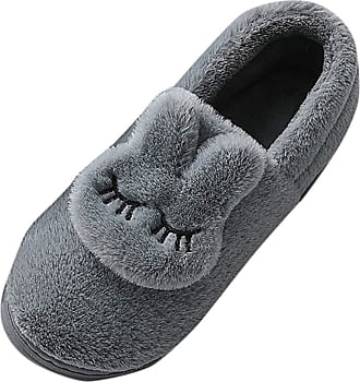 Yvelands TEELONG Womens Cute Cartoon Rabbit Slipper Boots Ladies Warm Lined Slippers Home Indoor Outdoor Garden Shoes Casual Slip-On Short Boots Cozy Shoes for