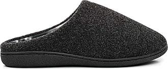 Zedzzz TONY Textile Velour Mule Indoor Mule Slippers - Black Textile, Mens UK 10 / EU 44