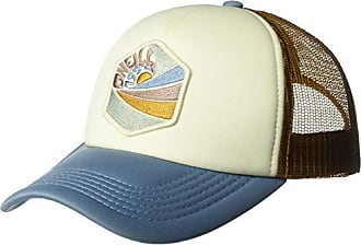 O'Neill Womens Mesh Back Adjustable Trucker Hat, Faded Denim/Marigold, One Size