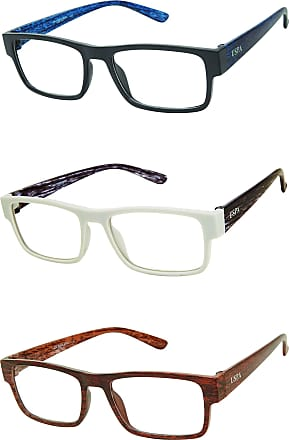 U.S.Polo Association U.S. Polo Assn. Mens USPX108 Rectangular Reading Glasses, Black/Blue Wood, Grey/Black Wood, Brown/Brown Wood, 40 mm + 2.5