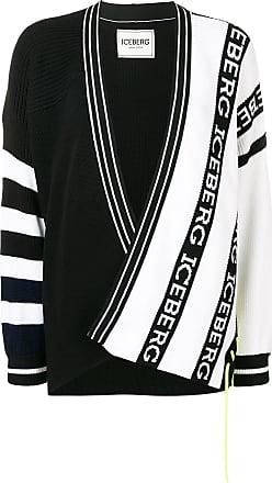 Iceberg logo knitted cardigan - Black
