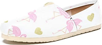 Tizorax Slip on Loafer Shoes for Women Couple Flamingos and Glitter Hearts Comfortable Casual Canvas Flat Boat Shoe