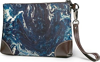 GLGFashion Womens Leather Wristlet Clutch Wallet Frozen In Time Storage Purse With Strap Zipper Pouch