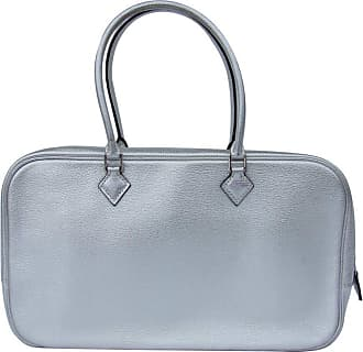 1412dbd8315 Hermès Limited Edition Metallic Silver Chevre Leather Plume Elan Bag Phw ...