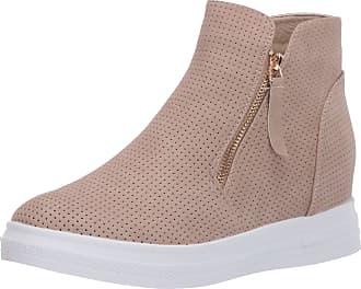 Yoki Womens DEMIAN-48 Sneaker, Beige, 5.5 UK