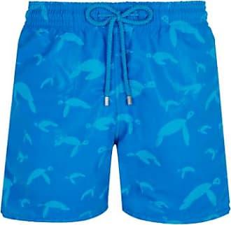 Vilebrequin Vilebrequin Moorea Swim Short Wasserreaktive Origami Turtles Hawaii Blue - medium