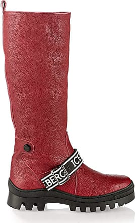 Iceberg 6865 Red Leather Winter Knee High Italian Designer Woman Boots
