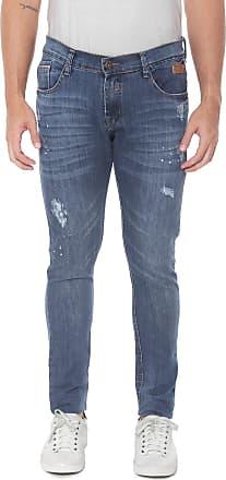 Fatal Surf Calça Jeans Fatal Skinny Destroyed Azul