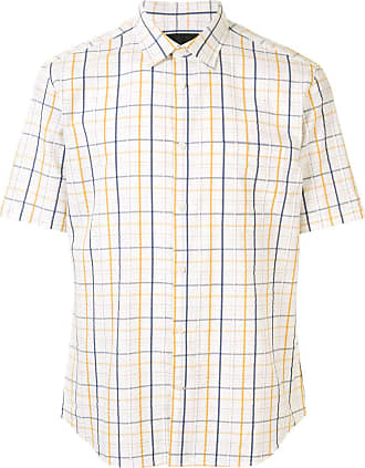 Durban plaid cotton shirt - Branco